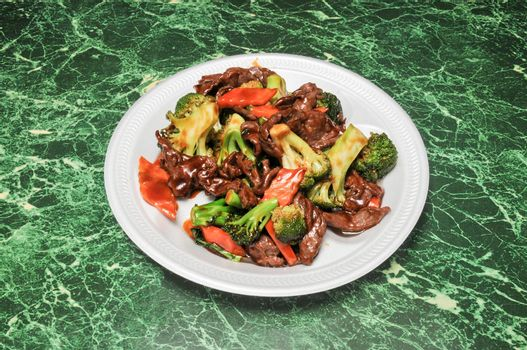 authentic and traditional Chinese dish known as beef with broccoli