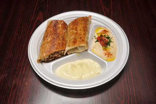 Delicious Greek dish known best as shawarma