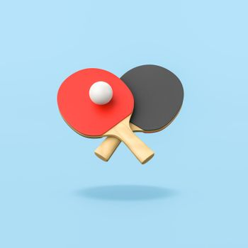 Ping-Pong Game on Blue Background