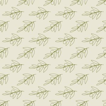 Olive seamless pattern for textures, textiles, packaging and simple backgrounds. Flat style.