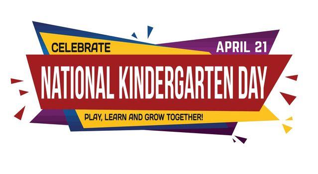 National kindergarten day banner design