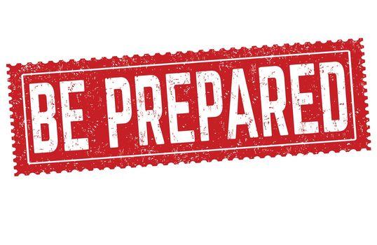Be prepared grunge rubber stamp
