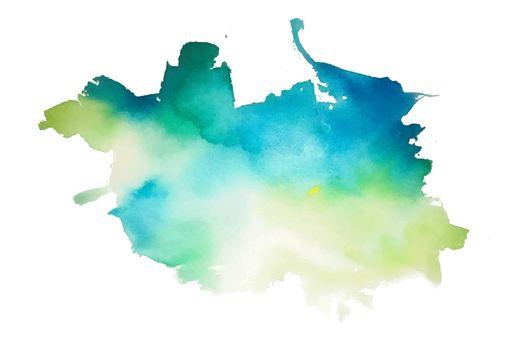 abstract aqua green and blue watercolor splash texture