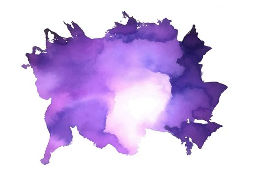 abstract watercolor stain texture in purple color