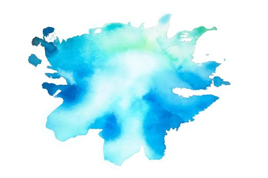 blue watercolor splash stain texture background