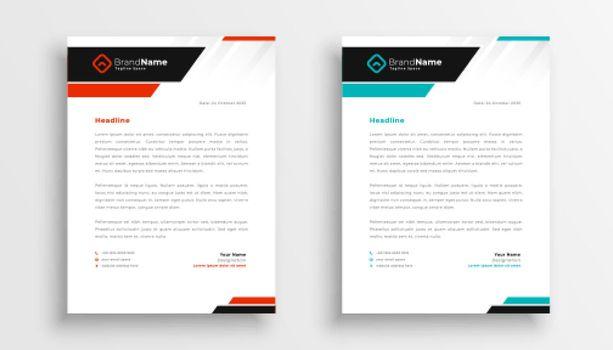 modern letterhead teamplate for business identity