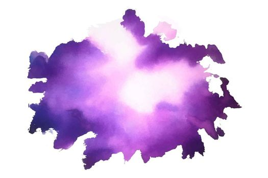 purple abstract watercolor stain texture background