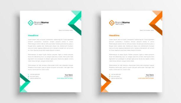 simple business letterhead template design