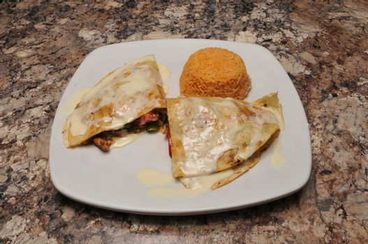 Traditional mexican delicacy known as a quesadilla