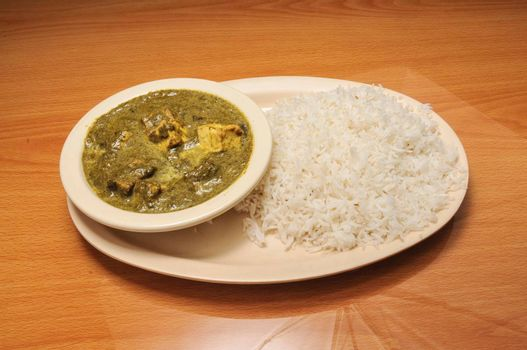Delicious Indian dish known best as Spinach Paneer