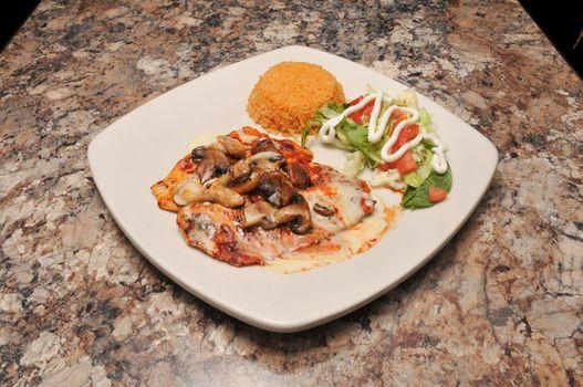 Delicious Mexican dish known as marinado chicken