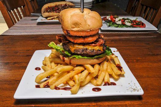Onion Ring Cowboy Burger