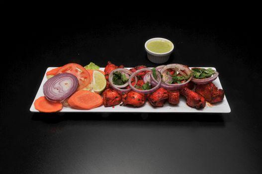 Delicious Indoian dish known best as chicken tikka
