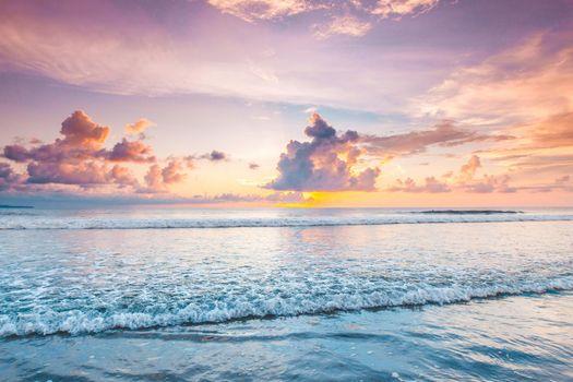 Amazing sunset from Bali beach