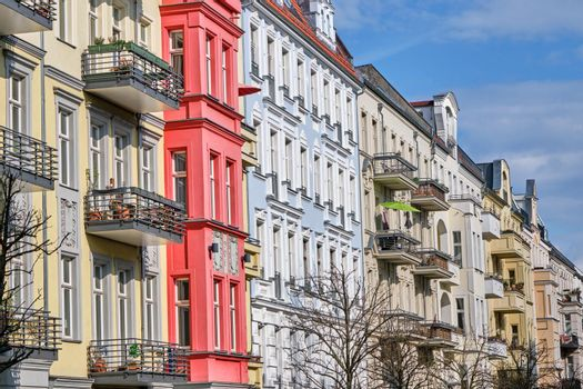 Some renovated old apartment buildings seen in Prenzlauer Berg