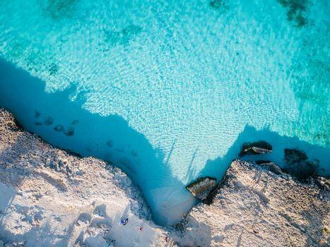 Tres Trapi Steps Triple Steps Beach, Aruba completely empty, Popular beach among locals and tourists, crystal clear ocean Aruba. Caribbean