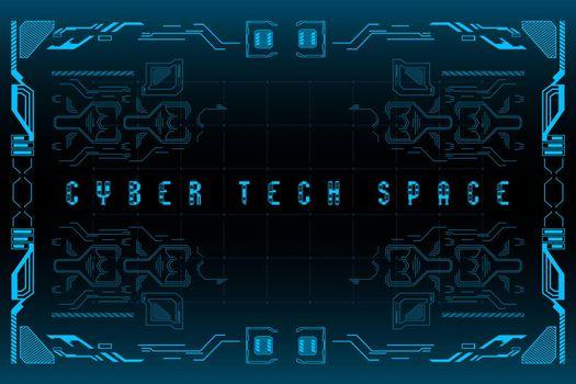 HUD Cyber tech space. Futuristic HUD background