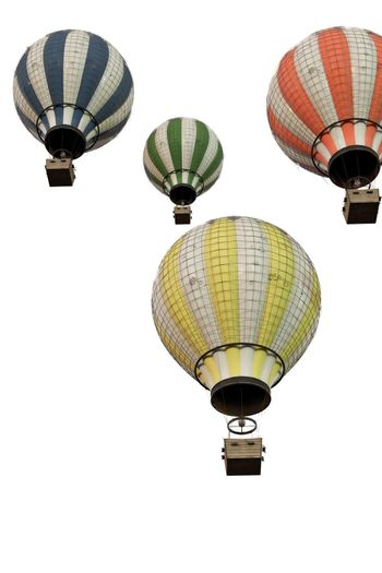 hot air ballon isolated on white background 3d illustration