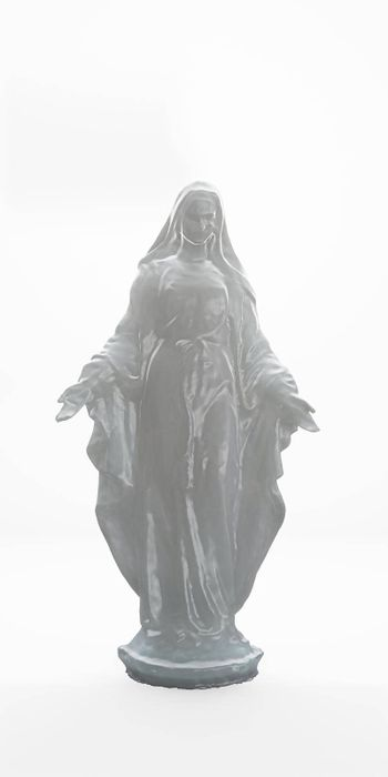 Mary statue isolated on white background 3d illustration