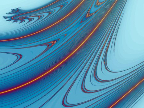 3D-Illustration. Colorful and mathematical fractal backgrounds in complex numbers.
