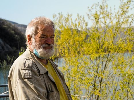 portrait of a senior active man