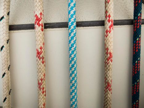 Colorful Marine Rope Pattern Background
