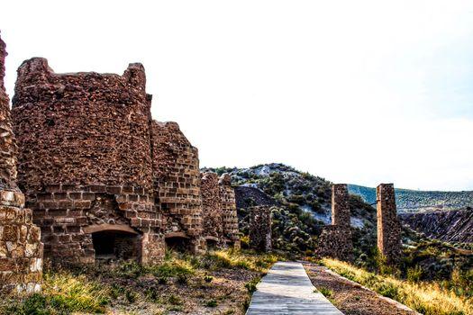 Old abandoned smelting furnace