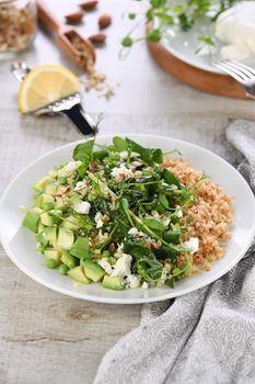 Gluten-free green vegetarian salad