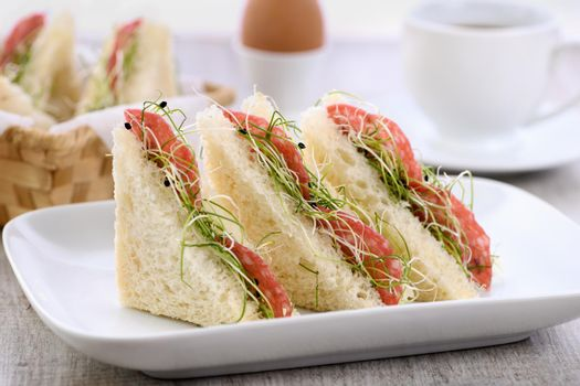 Microgreens sprouts sandwich-healthy food