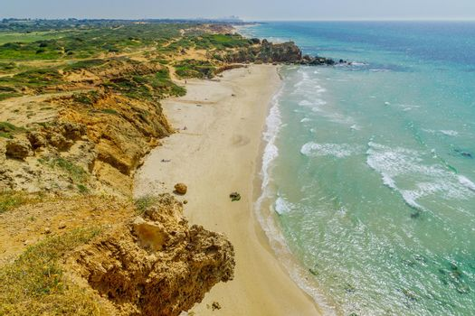 View of the Gedor Beach Sea Reserve, Hadera
