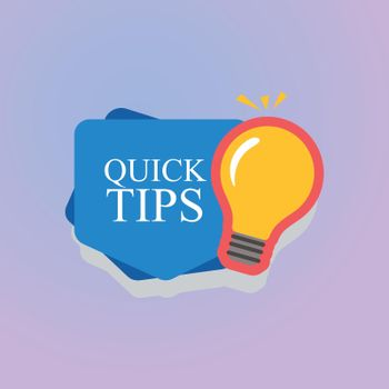 Colorful helpful tips badge collection eps10 illustration