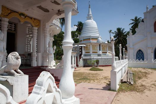 Old Buddhist temple complex of Sri Pushparama Maha Viharaya