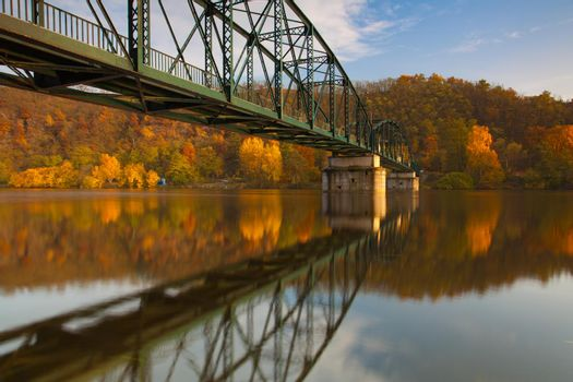 Footbridge over the Vltava river