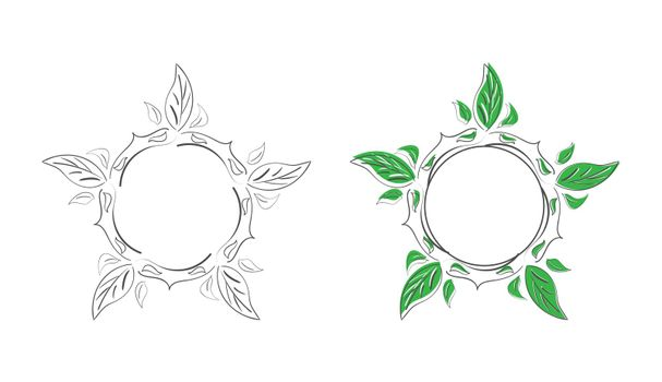 set of decorative patterned doodle-style frames for photos, illustrations, text, and creative design. Flat style.
