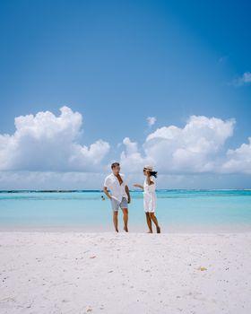 Amazing Baby Beach and coast on Aruba, Caribbean, white beach with blue ocean tropical beach