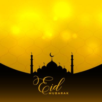 eid mubarak islamic background with mosque design