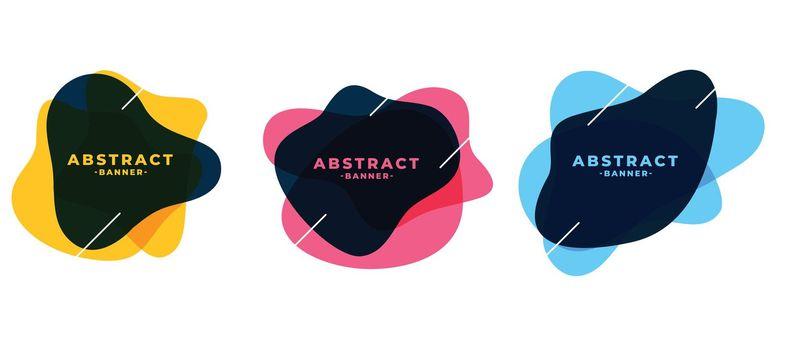 fluid shape abstract frame banners set