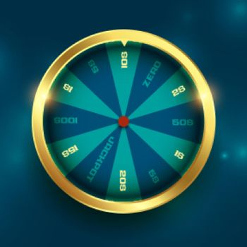 golden wheel of fortune luck spin background