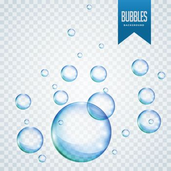 floating soap or water bubbles background