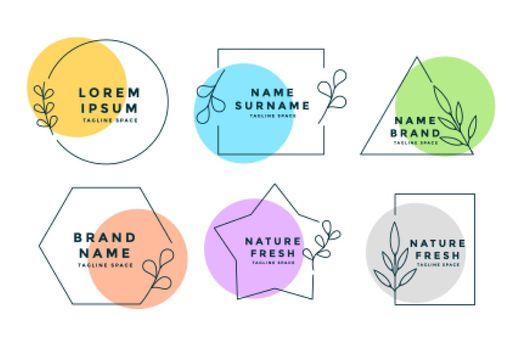 minimalist logos or monograms set of six