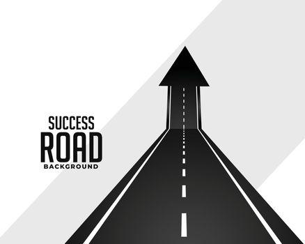 perspective road pathway with upward arrow