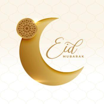 religious eid mubarak festival crescent moon card design