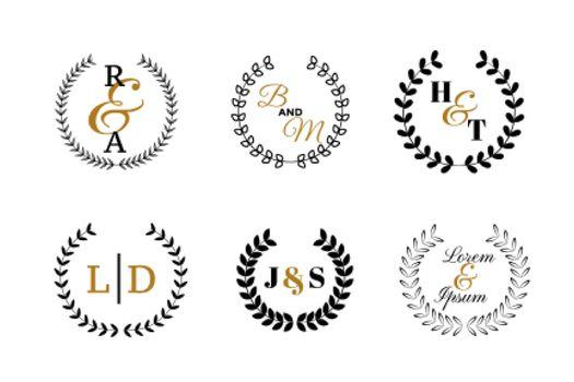 wedding monograms or logotype set