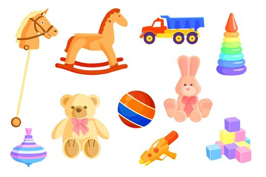 Colorful baby toys set
