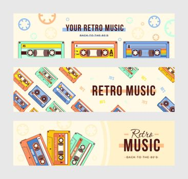 Creative banner designs with compact cassettes