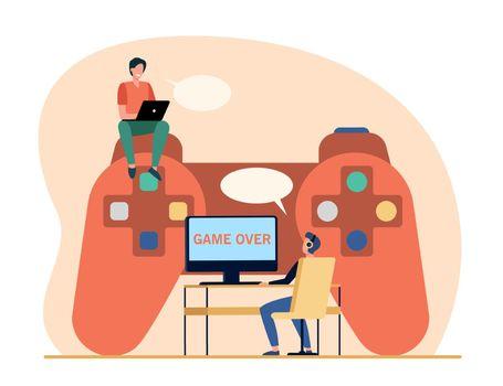 Cyber sport competitors