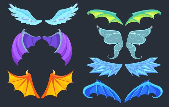 Fabulous creatures wings set
