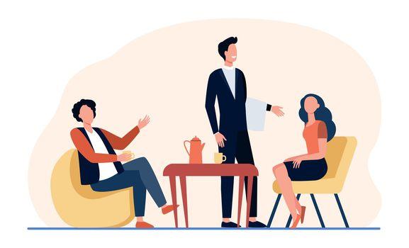People meeting in coffee shop