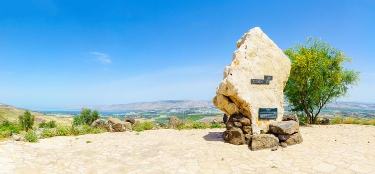 Monument to Levi Eshkol, and panorama of the Jordan valley
