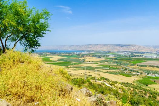 Sea of Galilee and the Lower Jordan River valley